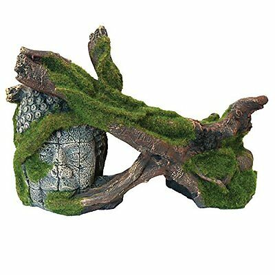 Rosewood Moss Covered Trees and Ruin Aquarium Ornament