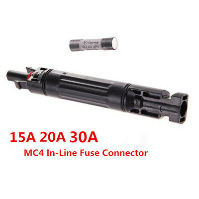 New MC4 In-line Fuse Connector 1000 VDC Male to Fem PV Solar Fuse Holder