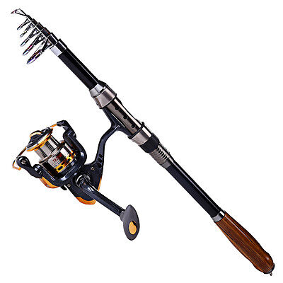 Fishing Rod Reel Combo Carbon Saltwater Telescopic Spinning Fishing Tackle Sets