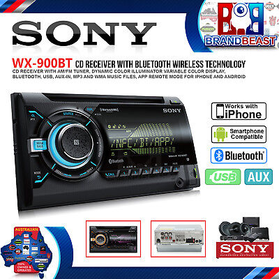 Sony Wx-900bt Double-din Cd Receiver With Bluetooth - Free Shipping