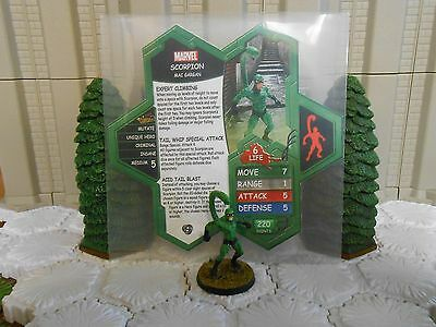 Heroscape Custom Scorpion Double Sided Card & Figure w/ Sleeve Marvel