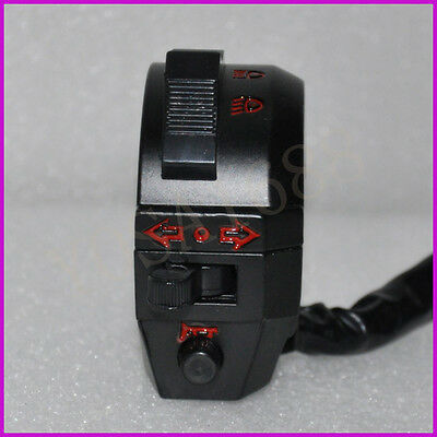 "Motorcycle 7/8"" Handlebar Control Horn Turn Signal Light Hi/Lo Beam Left Switch"
