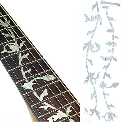 Guitar Or Bass Tree Of Life  Fretboard Silver Color Inlay  Ultra Thin Sticker