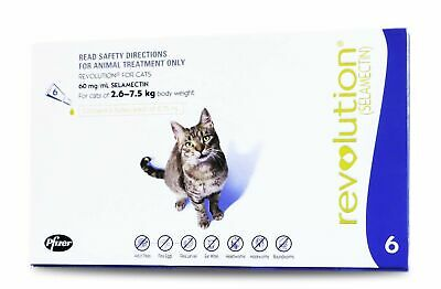 Revolution for Cats - Flea & Worm Treatment  2.6-7.5kg - 6 pack +2 BONUS SINGLES