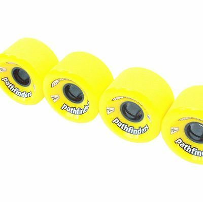 70 X 45mm Yellow Vault 80A Pathfinders skateboard longboard wheels set of 4