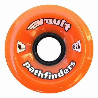70 X 45mm Orange Vault 82A pathfinders longboard skateboard wheels set of 4