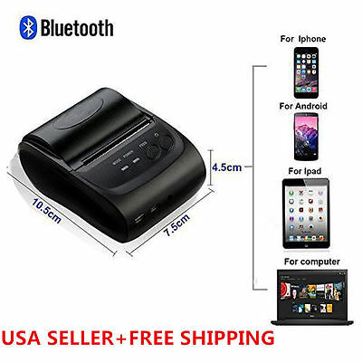 Wireless Bluetooth USB Thermal Receipt Printer 58mm Line Mobile POS Android USA