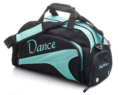 Medium Large Sparkly Turquoise Dance Ballet Tap Kit Holdall Sports Bag KB76 Katz