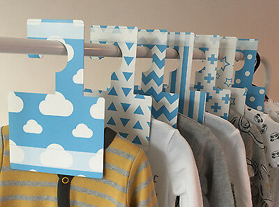 BLUE WARDROBE DIVIDERS   Arrange baby's wardrobe by size or clothing type!