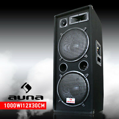 "NEW DUAL KARAOKE PARTY SPEAKER 500W RMS 2x 12"" INCH BASS DJ DISCO PA *FREE P&P"