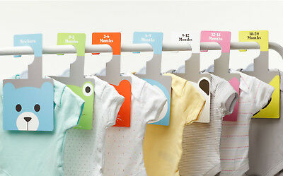 WARDROBE DIVIDERS - Little Pals | Arrange Baby's Clothes by Age | Newborn - 2yrs