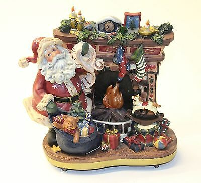 New Wind Up Musical Father Christmas Santa Claus Decorative Xmas Ornament