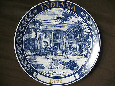 Vintage 1972, Indiana, Lanier St. Memorial plate. Free Shipping!!