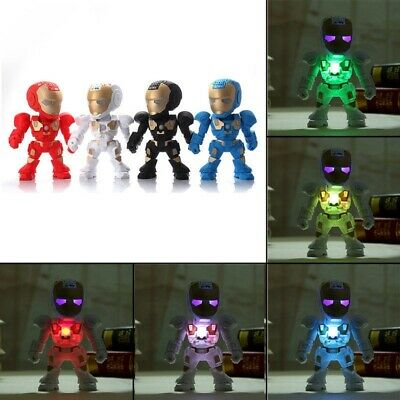 Robot Iron Man Wireless Bluetooth Speaker C-89 LED Speakers USB TF FM Kids Toy