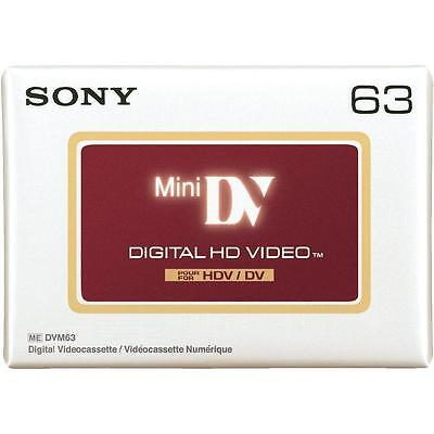 1 x Sony High Definition Mini DV HDV63 Tapes - BRAND NEW