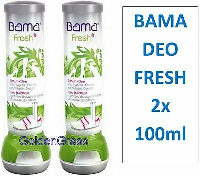 2x BAMA FRESH Shoe Deo Fresh Deodorant Anti Bacterial Kiwi 48hr Odour Spray x2