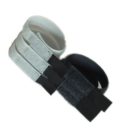 PACK OF 6 - REUSABLE RELEASABLE HOOK & LOOP VELCRO CABLE TIES - 180mm X 20mm