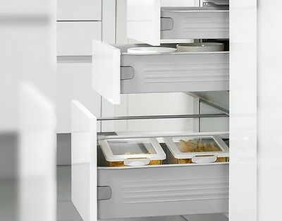 Kitchen Metal Drawer Box Sides Roller Runners Soft Close Option WHITE 450, 500mm