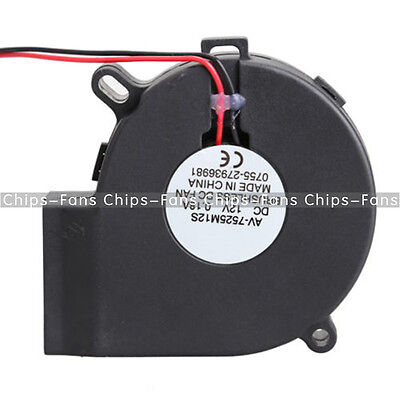 Brushless DC Blower Cooling Fan Sleeve-Bearing 7525S 12V 0.18A 75x33mm 75mm CF