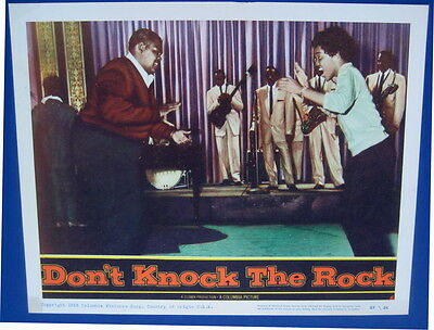 Dont Knock the Rock 1956 lobby card movie poster  blacks dancing