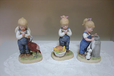 Figurines homco decorative collectible brands Home interiors denim das