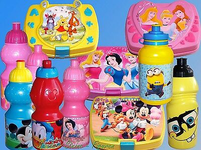 Disney Princess Spongebob Winnie the Pooh Mickey Mouse Bottle Lunch Box Lunchbox