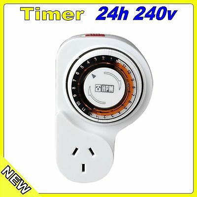 Timer Mechanical Analogue 24 Hour Hpm Power Point