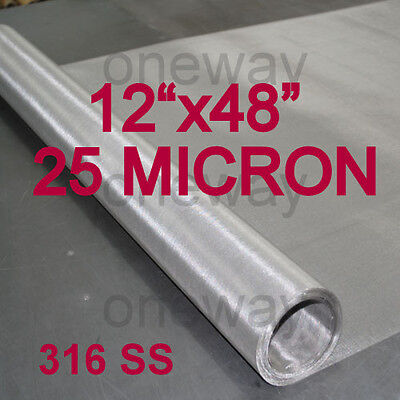 "12""x48"" ROLL - 25 Micron - Fine Rosin Tech Stainless Steel 20 Ton Press"