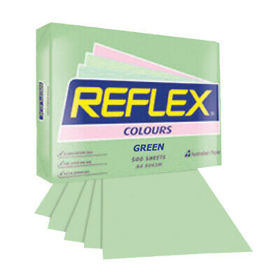 Reflex Colours Copy Paper A4 Green 80 grams per square metre 500 Sheets per Ream