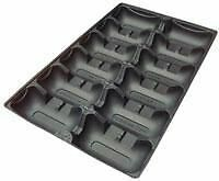 8 x Oyster Tray, 1 Dozen, Black, Compostable, Light Weight, Loose
