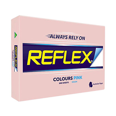 Reflex Colours Copy Papers A4 Pink 80grams per square metres 500 Sheets/Ream