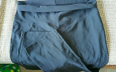 Size 14  black trousers maternity roll down waist   new