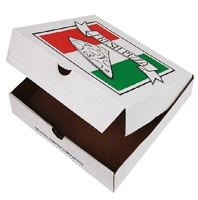 Regular Pizza Box 13 Inches White 100 Pieces per Pack