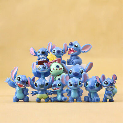 12 Pcs Disney Lilo & Stitch Action Figures Collection Set Kids Toy Gifts