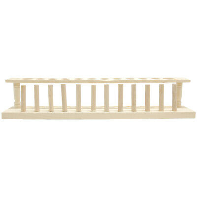 Test Tube Rack Wood with 10 x 22mm and 2 x 28mm Holes 12 Holes with Pegs