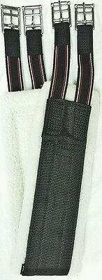show jumping girth with detachable synthetic lambs wool - Elastic Center