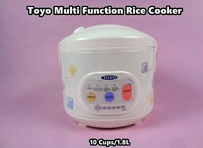 Toyo Deluxe Logic Multi Functions Rice Cooker with Keep warm 10 Cups MB-YD50D