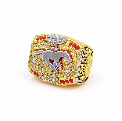 2008 Calgary Stampeders Champions Ring Christmas Gifts For Men-BURRIS