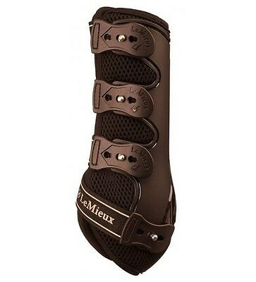 LEMIEUX SNUG BOOTS BROWN PAIR horse front hind schooling jumping boot
