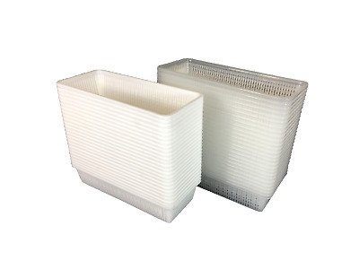 BULK 25 Multi Purpose PVC Storage Box Rectangle Plastic Basket  23 x 9.2 x 5cm