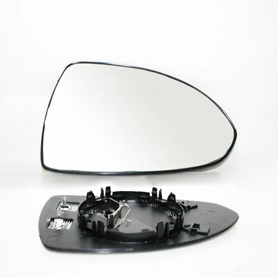 Right Side Door Wing Mirror Heated & Base Glass For Opel Vauxhall Corsa D 06 -
