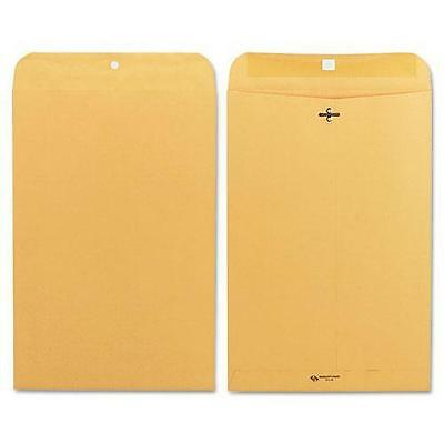 Quality Park Clasp Envelope, 10 x 15, 28lb, Brown Kraft, 100/Box 37898
