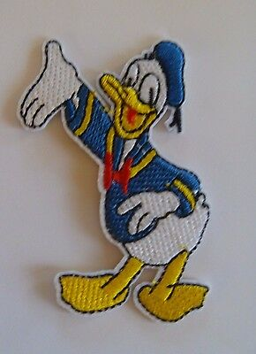 1 Iron On Sew On Machine Embroidered Applique Disney Donald Duck
