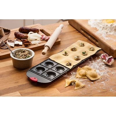 Ravioli Tray, Non Stick/12 Section, With Wooden Rolling Pin