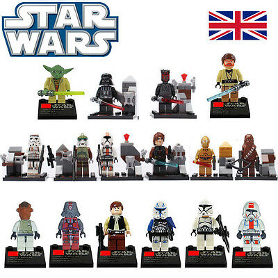 Star Wars The Force Awakens Series 16 PCS Minifigures Blocks Toys Fit Lego UK