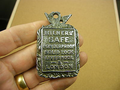 "Antique Safe Plate ""Milners Safe Powder Proof Liverpool & London""(CHROME).."