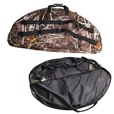 IRQ Compound Bow Bag 35*18'' Camo Carry Case Capacity Hunting Target Shooting