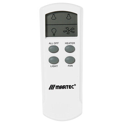 Martec Bathroom Lcd Remote Control Kit - 3 In 1 Heat Light Exhaust Fan Mbhrem
