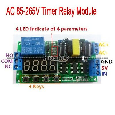110V 220V Digital LED cycle timing delay Time Timer relay Module clock control