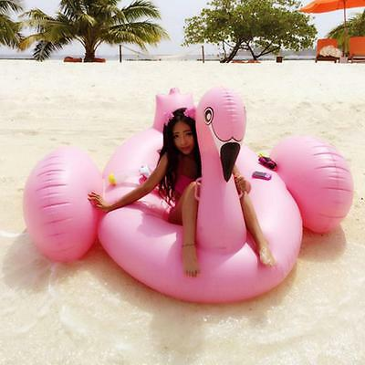 DHL Swimline Swimming Pool Inflatable Giant Rideable Pink Flamingo Float Toy